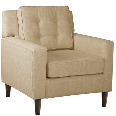Elena Arm Chair Upholstery: Linen Sandstone