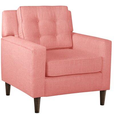 Elena Arm Chair Upholstery: Linen Petal