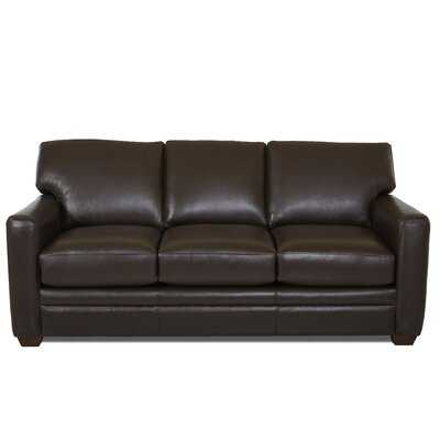 Carleton Leather Sleeper Body Fabric: Durango Espresso, Leather Application: Leather Match