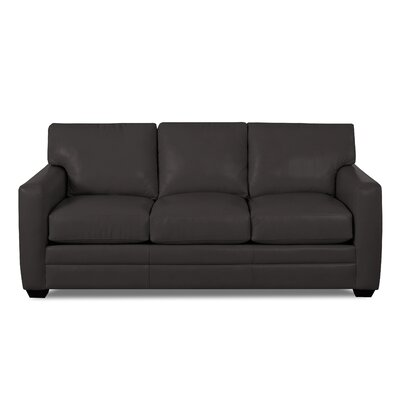 Carleton Leather Sofa Body Fabric: Durango Espresso, Leather Application: Leather Top
