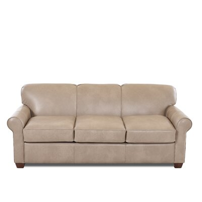 Jennifer Leather Sleeper Sofa Body Fabric: Steamboat Putty, Leather Application: Leather Top