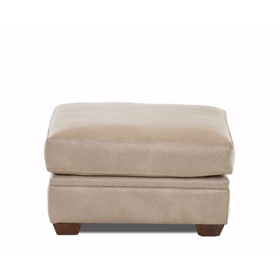 Carleton Leather Ottoman Body Fabric: Steamboat Putty