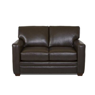 Carleton Leather Loveseat Body Fabric: Durango Espresso, Leather Application: Leather Match