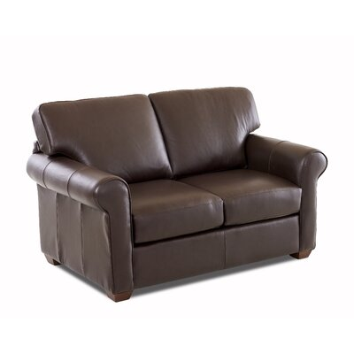 Rachel Leather Loveseat Leather Application: Leather Top, Body Fabric: Durango Espresso
