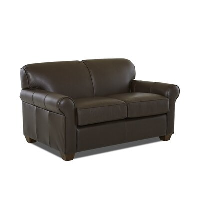 Jennifer Leather Loveseat Leather Application: Leather Match, Body Fabric: Durango Espresso