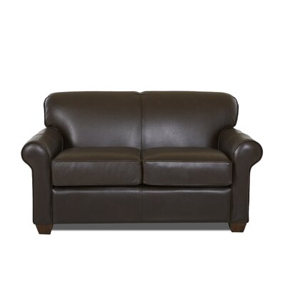 Jennifer Leather Loveseat Body Fabric: Durango Espresso, Leather Application: Leather Top