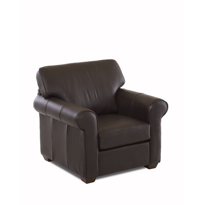 Rachel Leather Arm Chair Leather Type: Leather Top, Body Fabric: Durango Espresso