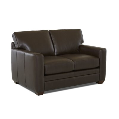 Carleton Leather Loveseat Leather Type: Faux Leather, Body Fabric: Durango Espresso
