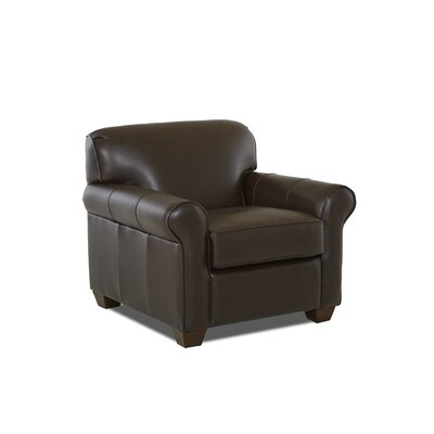 Jennifer Club Chair Upholstery: Leather Top, Upholstery: Durango Espresso