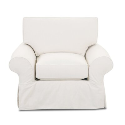 Casey Armchair Upholstery: Classic Bleach White