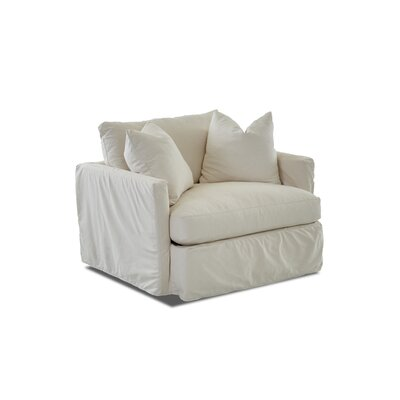 Madison Slipcovered Chair Body Fabric: Sunbrella� Canvas Spa, Pillow Fabric: Sunbrella� Canvas Spa