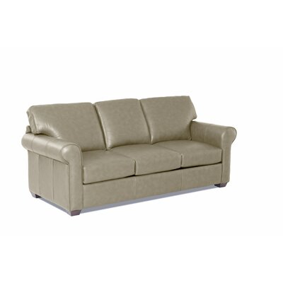 Rachel Leather Sofa Body Fabric: Steamboat Putty, Leather Application: Top Grain Leather