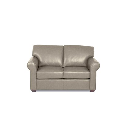 Rachel Leather Loveseat Body Fabric: Steamboat Putty, Leather Application: Leather Match