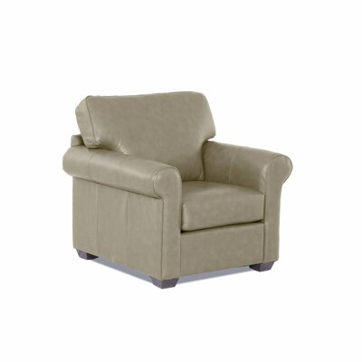 Rachel Leather Arm Chair Leather Type: Faux Leather, Body Fabric: Steamboat Putty