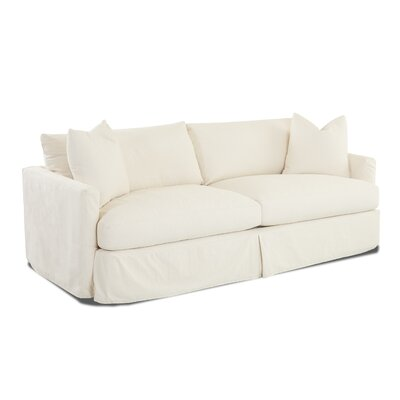 Madison XL Slipcovered Sofa Body Fabric: Draft Ivory, Pillow Fabric: Draft Ivory