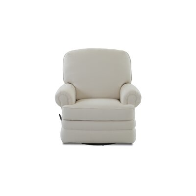 Emily Swivel Gliding Recliner Body Fabric: Bull Natural, Welt Fabric: Bull Natural