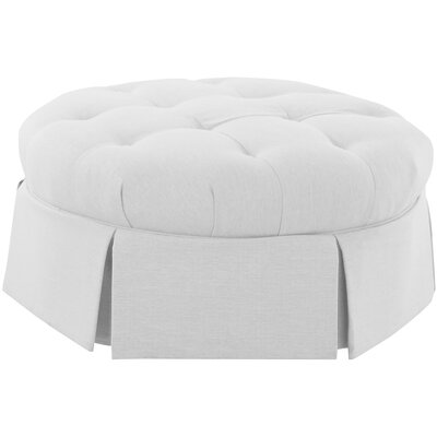 Aria Ottoman Body Fabric: Spinnsol Optic White
