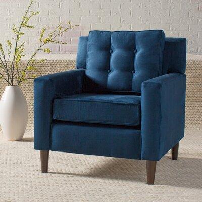Elena Arm Chair Upholstery: Premier Microsuede Navy