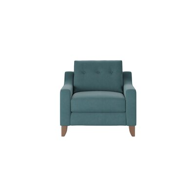 Logan Armchair Body Fabric: Godiva Prussian