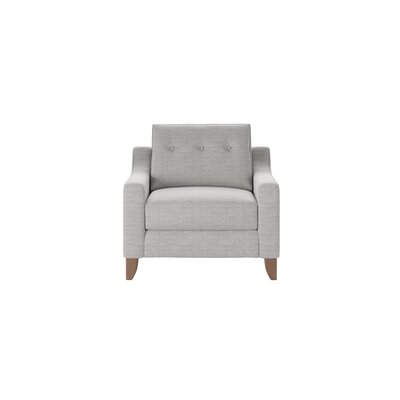 Logan Armchair Body Fabric: Pebble Greystone