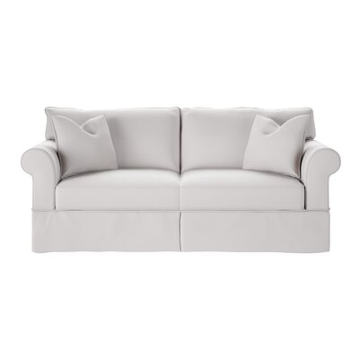 Felicity Sofa Body Fabric: Classic Bleach White