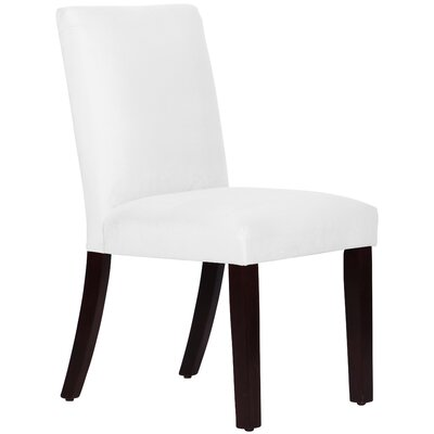 Connery Parsons Chair Body Fabric: Velvet White