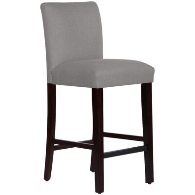 Connery 31 Bar Stool Body Fabric: Linen Grey