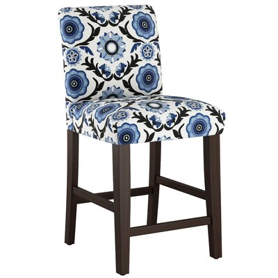 Connery 26 Bar Stool Body Fabric: Tulum Blue