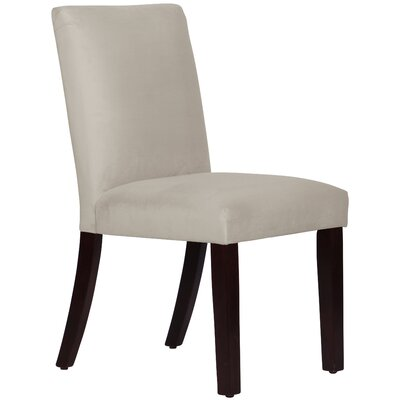 Connery Parsons Chair Body Fabric: Velvet Light Grey