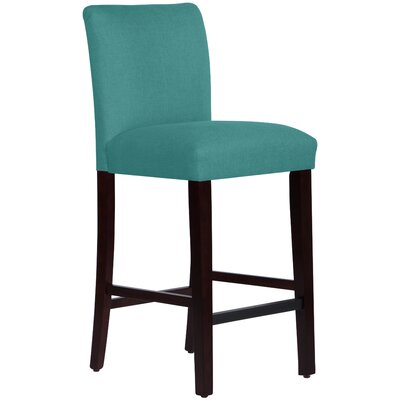 Connery 31 Bar Stool Body Fabric: Linen Laguna