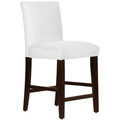 Connery 26 Bar Stool Body Fabric: Velvet White