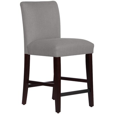 Connery 26 Bar Stool Body Fabric: Linen Grey