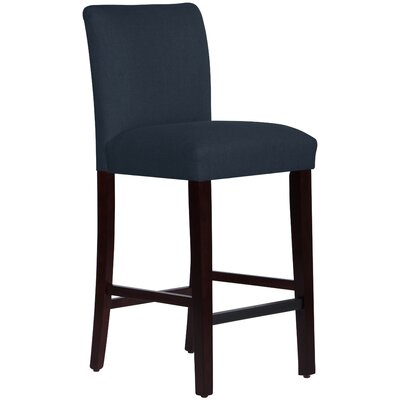 Connery 31 Bar Stool Body Fabric: Linen Navy