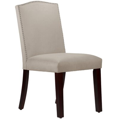 Nadia Parsons Chair with Nail Buttons Body Fabric: Velvet Light Grey