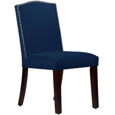 Nadia Parsons Chair with Nail Buttons Body Fabric: Velvet Navy