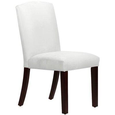 Nadia Parsons Chair Body Fabric: Velvet White