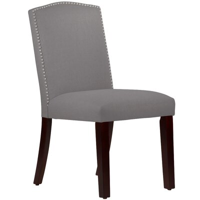 Nadia Parsons Chair with Nail Buttons Body Fabric: Linen Grey