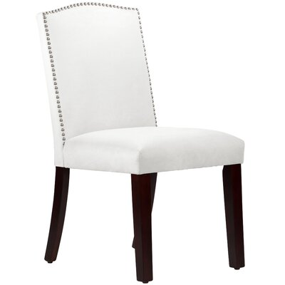 Nadia Parsons Chair with Nail Buttons Body Fabric: Velvet White