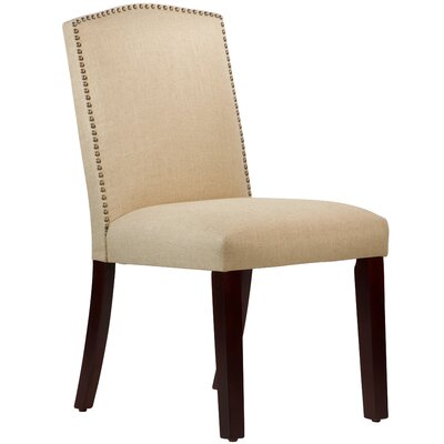 Nadia Parsons Chair with Nail Buttons Body Fabric: Linen Sandstone