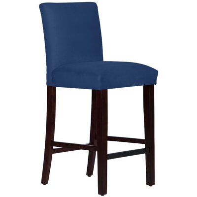 Connery 31 Bar Stool Body Fabric: Velvet Navy