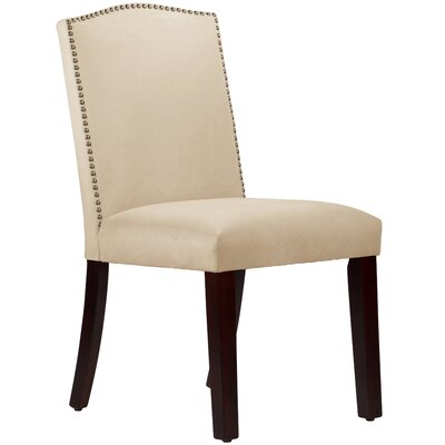 Nadia Parsons Chair with Nail Buttons Body Fabric: Velvet Buckwheat