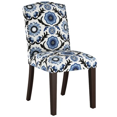 Nadia Parsons Chair with Nail Buttons Body Fabric: Tulum Blue