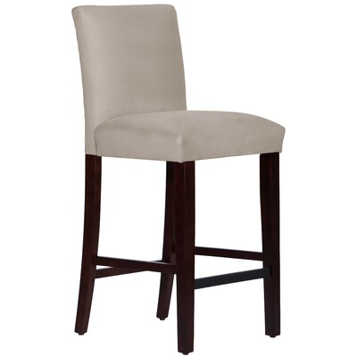 Connery 31 Bar Stool Body Fabric: Velvet Light Grey