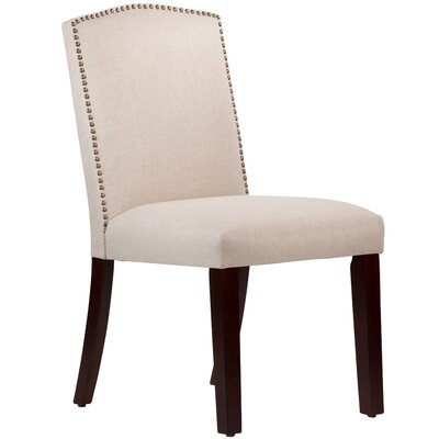 Nadia Parsons Chair with Nail Buttons Body Fabric: Linen Talc