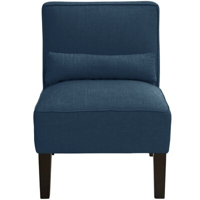 Thurston Slipper Chair Upholstery: Linen Navy