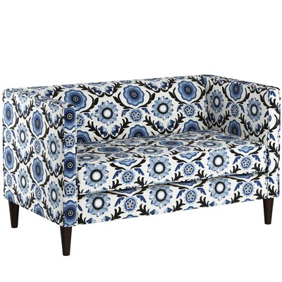 Crosby Chesterfield Settee Body Fabric: Tulum Blue