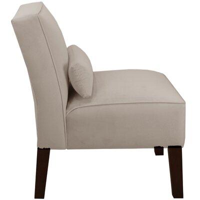 Thurston Slipper Chair Upholstery: Velvet Light Grey