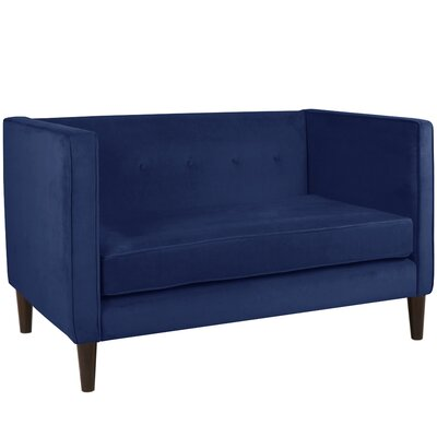 Crosby Chesterfield Settee Body Fabric: Velvet Navy