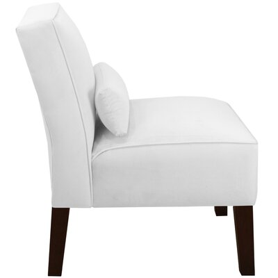 Thurston Slipper Chair Upholstery: Velvet White