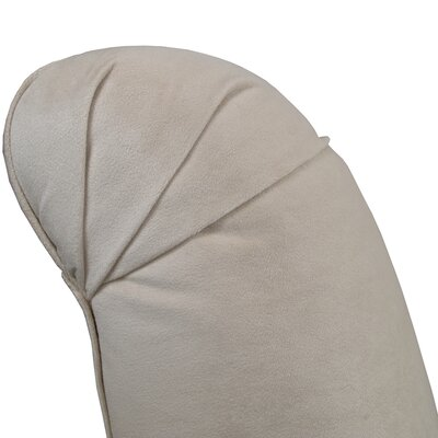 Arch Hill Shantung Tufted Slipper Chair Upholstery: Velvet Light Grey
